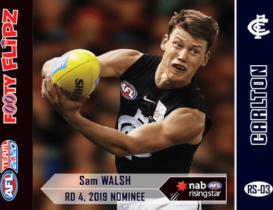 Sam Walsh, Footy Flipz Rising Star, 2020 Teamcoach AFL