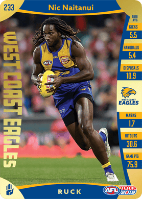 Nic Naitanui, Gold, 2019 Teamcoach AFL