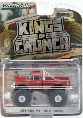 Kings of Crunch Monster Truck, 1979 Ford F-250 God of Thunder, 1:64 Diecast Vehicle