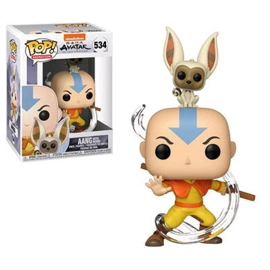 Avatar The Last Airbender - Aang with Momo Pop! Vinyl