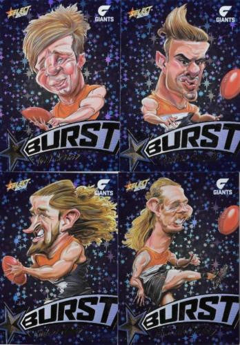 2016 Select Footy Stars Blue Starburst, GWS Giants Team Set