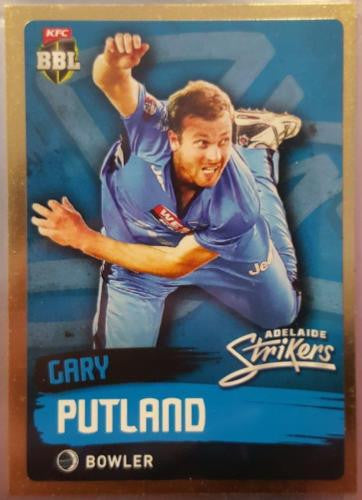 2015-16 Tap'n'play CA BBL 05 Cricket, Gold Parallel, Gary Putland, Strikers, #70