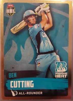2015-16 Tap'n'play CA BBL 05 Cricket, Gold Parallel, Ben Cutting, Heat, #79