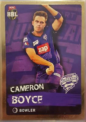 2015-16 Tap'n'play CA BBL 05 Cricket, Gold Parallel, C Boyce, Hurricanes, #92