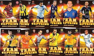 2015-16 Tap'n'play FFA A-League Soccer, Team Captains Set , # TC-1 to TC12