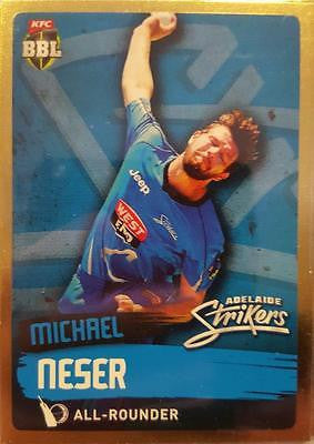 2015-16 Tap'n'play CA BBL 05 Cricket, Gold Parallel, Michael Neser, Strikers #68