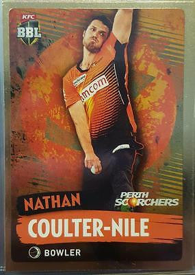 2015-16 Tap'n'play CA BBL 05 Cricket, Gold Parallel, Coulter-Nile, Scorchers, #139