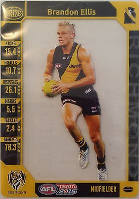 2015 Teamcoach Prize card, Brandon Ellis, Richmond Tigers