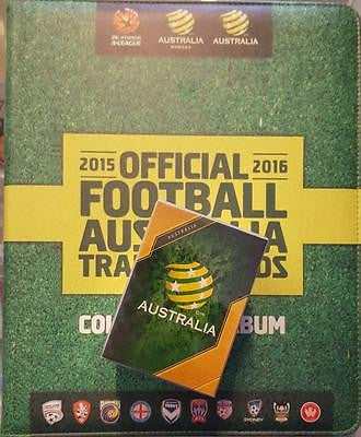 2015-16 Tap'n'play FFA A-League Soccer 200 card Set and Folder with Pages.