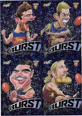 2016 Select Footy Stars Blue Starburst, Brisbane Lions Team Set