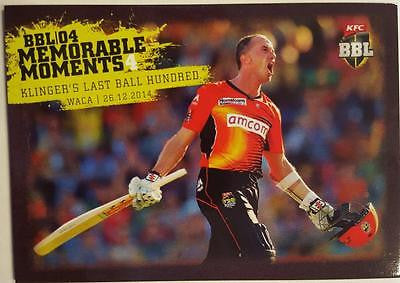 2015-16 Tap'n'play CA BBL 05 Cricket, Memorable Moments, Klingers last ball 100.