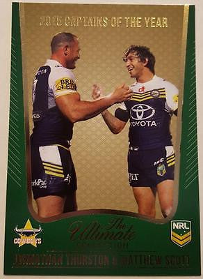 2015 Select NRL Ultimate Collection Captains of the Year Thurston, Scott, Cowboys