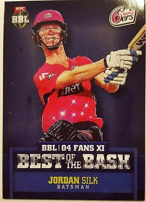 2015-16 Tap'n'play CA BBL 05 Cricket, Best of the Bash, Jordan Silk, 6ers