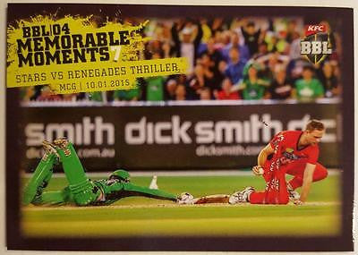 2015-16 Tap'n'play CA BBL 05 Cricket, Memorable Moments, Stars v Renegades