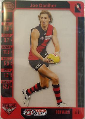 2015 Teamcoach Prize card, Joe Daniher, Essendon Bombers