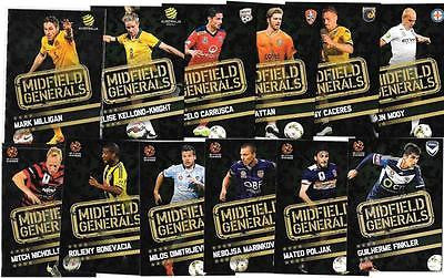 2015-16 Tap'n'play FFA A-League Soccer, Midfield Generals Set, # MG-01 to MG-12