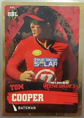 2015-16 Tap'n'play CA BBL 05 Cricket, Gold Parallel, Tom Cooper, Renegades, #108