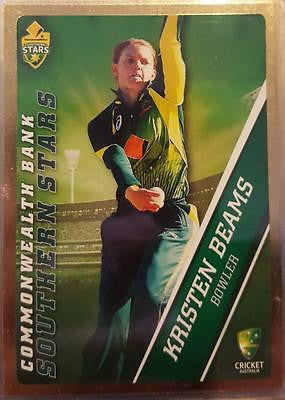2015-16 Tap'n'play CA BBL 05 Cricket, Gold Parallel, Kristen Beams, #46