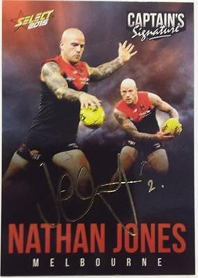 2015 Select AFL, Captains Signature Card, Nathan Jones, Melbourne Demons