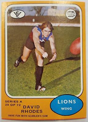 1973 Scanlens VFL Series A, David Rhodes