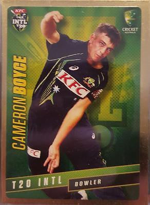 2015-16 Tap'n'play CA BBL 05 Cricket, Gold Parallel, Cameron Boyce, #33