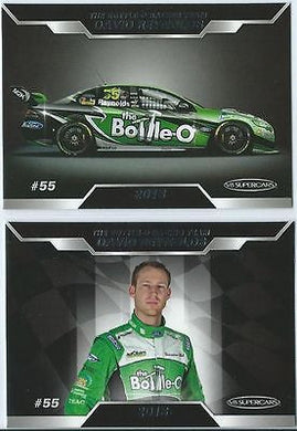 2013 ESP V8 Supercars, The Bottle-O Racing Team Set, DAVID REYNOLDS, Ford Falcon