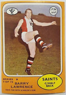1973 Scanlens VFL Series B, Barry Lawrence