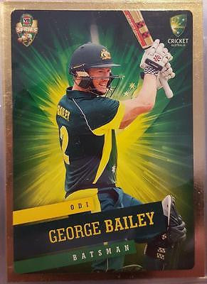 2015-16 Tap'n'play CA BBL 05 Cricket, Gold Parallel, George Bailey, #17