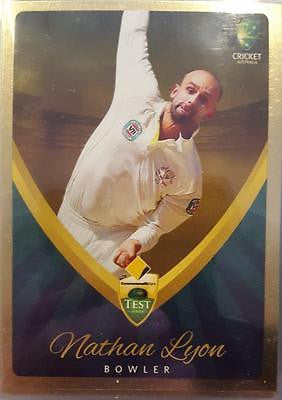 2015-16 Tap'n'play CA BBL 05 Cricket, Gold Parallel, Nathan Lyon, #7