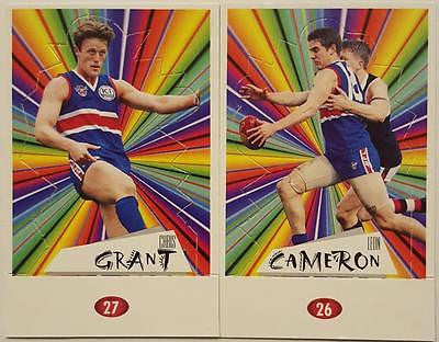 1997 Select Footscray Bulldogs Pop-up Set, Cameron, Grant, Liberatore, Wynd