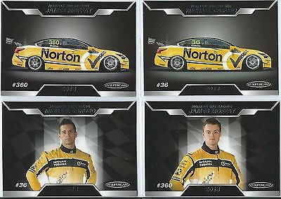2013 ESP V8 Supercars, Nissan Norton 360 Racing, Team Set, CARUSO, MOFFAT