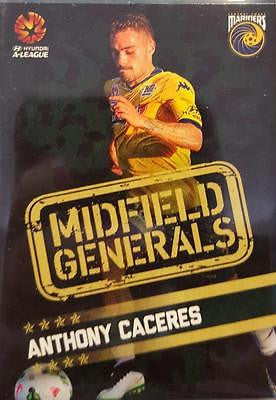 2015-16 Tap'n'play FFA A-League Soccer Midfield Generals, A Caceres, # MG-05