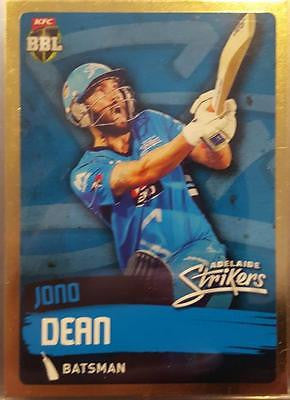 2015-16 Tap'n'play CA BBL 05 Cricket, Gold Parallel, Jono Dean, Strikers, #61