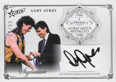 Gary Ayres, Norm Smith Medallist Signature, 2019 Select AFL Supremacy