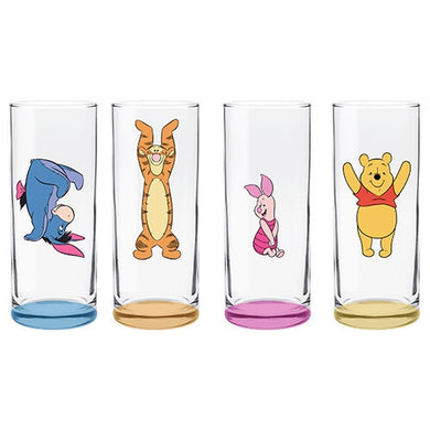 DISNEY - WINNIE THE POOH CHARACTERS HIGHBALL GLASSES SET OF 4