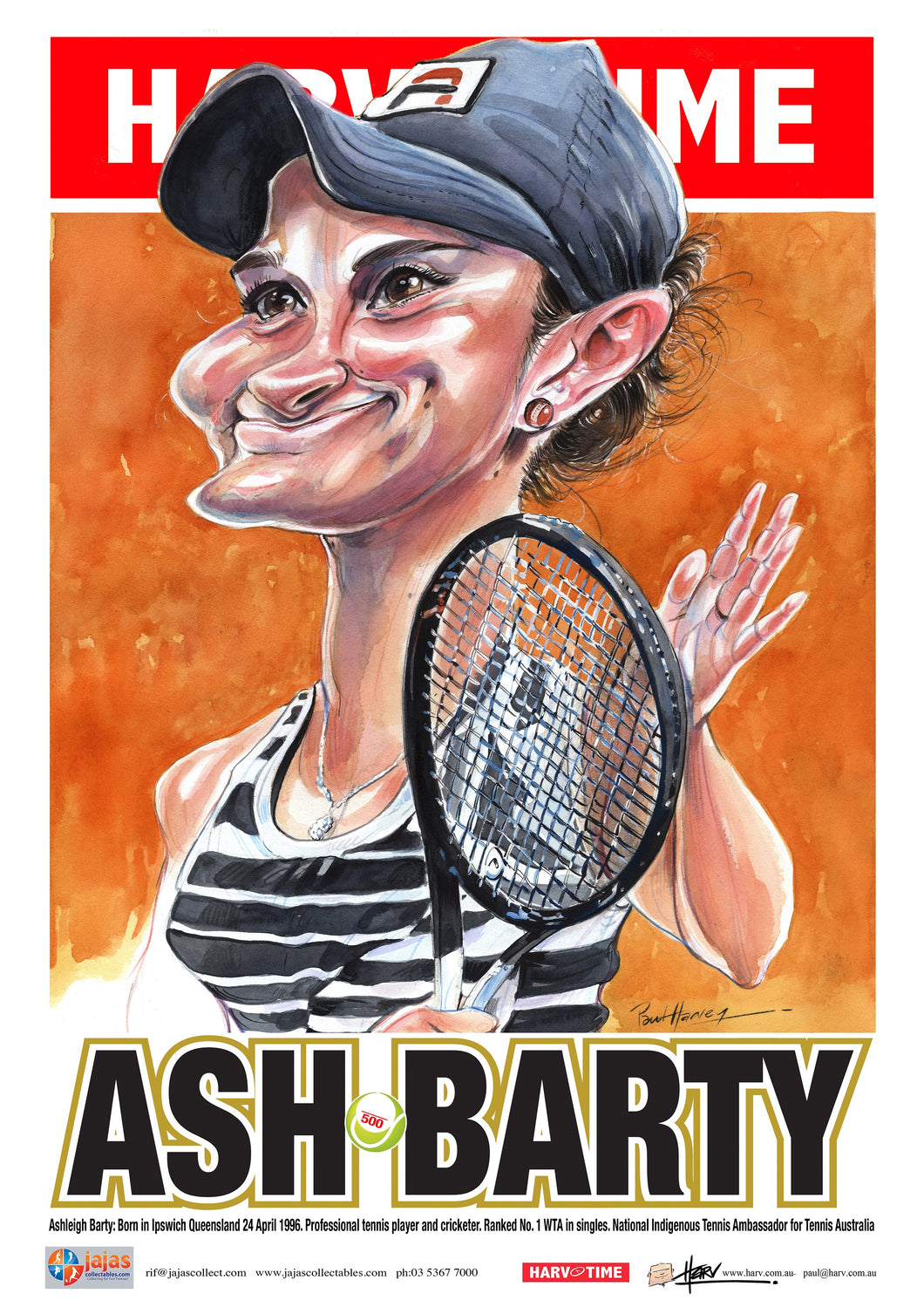 Ash Barty, Tennis, Harv Time Poster