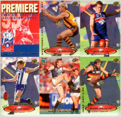 1999 Select AFL Premiere Trading Card Base Set of 200 cards