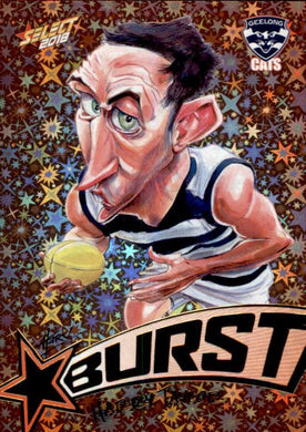 Harry Taylor, Starburst Orange Caricatures, 2018 Select AFL Footy Stars