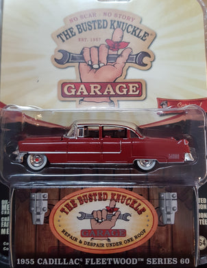 1955 Cadillac Fleetwood Series 60 Special Motor Medic, Busted Knuckle Garage, 1:64 Diecast Vehicle