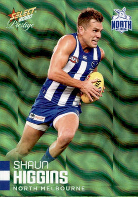 Shaun Higgins, Green Parallel, 2020 Select AFL PRESTIGE Footy Stars