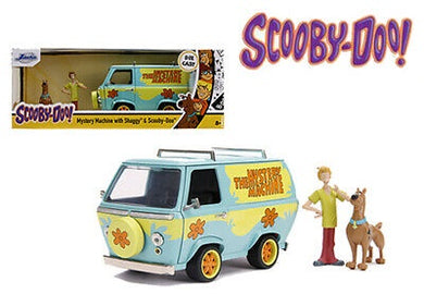 Scooby Doo Mystery Machine with Figures, Hollywood Rides, 1:24 Diecast Vehicle