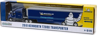 2018 Kenworth T2000 Transporter Truck & Trailer, Michelin, 1:64 Diecast Vehicle