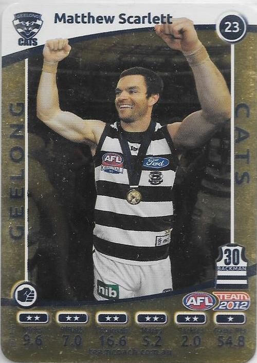 Matthew Scarlett, Gold, 2012 Teamcoach AFL