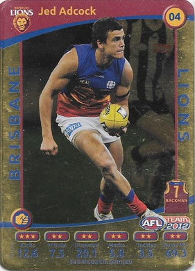 Jed Adcock, Gold, 2012 Teamcoach AFL