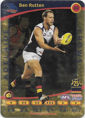 Ben Rutten, Gold, 2012 Teamcoach AFL