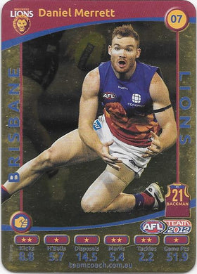 Daniel Merrett, Gold, 2012 Teamcoach AFL