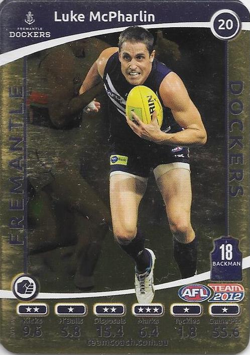 Luke McPharlin, Gold, 2012 Teamcoach AFL