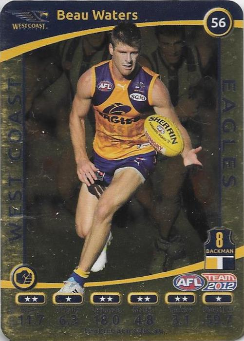 Beau Waters, Gold, 2012 Teamcoach AFL