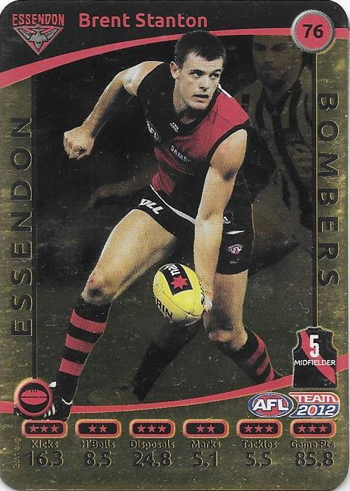 Brent Stanton, Gold, 2012 Teamcoach AFL