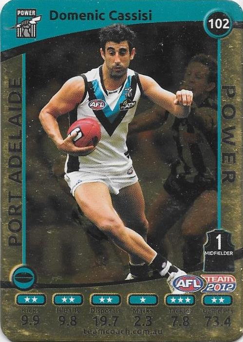 Domenic Cassisi, Gold, 2012 Teamcoach AFL